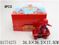 8PCS B/O SPIDERMAN W/LIGHT&MUSIC