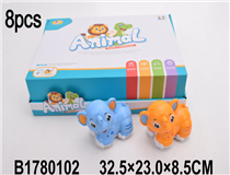 8PCS FRICTION ELEPHANT(4COLOURS)