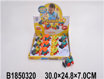 12PCS WIND-UP CONSTRUCTON CAR