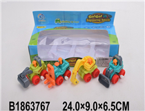 4PCS WIND-UP CAR (2COLOURS)(4)