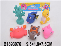 6PCS SOFT PLASTIC SEA ANIMAL