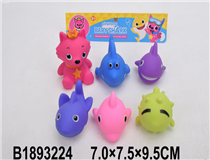 6PCS SOFT PLASTIC ANIMAL