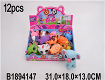 12PCS SOFT PLASTIC ANIMAL