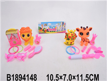 SOFT PLASTIC ANIMAL&BEAUTY SET