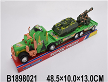 FRICTION TRUCK W/2PCS CAR
