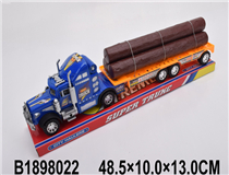 FRICTION TRUCK  W/2PCS WOOD (3 COLOURS)