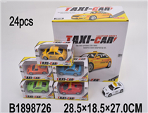 24PCS 1:43 PULL BACK METAL CAR(6 MIX)