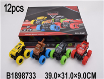 12PCS FRICTION METAL CAR(CARS)(4 MIX)