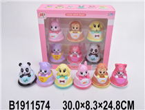 6PCS WIND-UP ANIMAL CAR