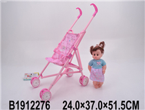 IRON BABY STROLLER&DOLL