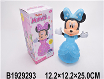 B/O MINNIE MOUSE&MICKEY MOUSE  W/LIGHT&MUSIC(2 COLOURS)