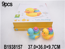 9PCS PRESSING DUCK W/MUSIC &LIGHT