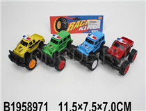 4PCS FRICTION POLICE CAR (RUSSIAN) (4COLOURS)