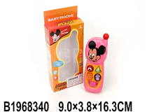 MOBILE PHONE W/MUSIC&LIGHT(MICKEY MOUSE)