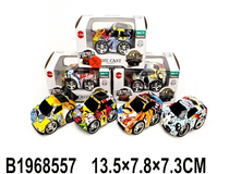 PULL BACK METAL CAR(4 COLOURS)(4 MIX)