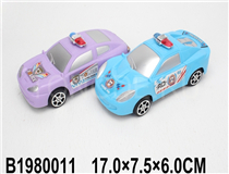 2PCS FRICTION POLICE CAR