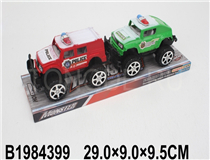 2PCS FRICTION POLICE CAR (4COLOURS)(4MIX)