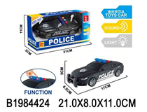 FRICTION POLICE CAR  W/LIGHTT&SOUND