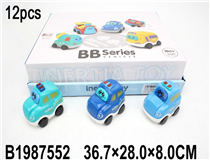 12PCS FRICTION POLICE CAR