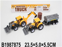 2PCS PULL BACK  CONSTRUCTION CAR