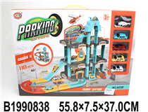 PARKING LOT  W/4PCS FREE WHEEL CAR&1PCS PLANE