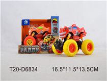 RUSSIAN PULL BACK CAR W/LIGHT&MUSIC&BATTERY(2COLOUR)